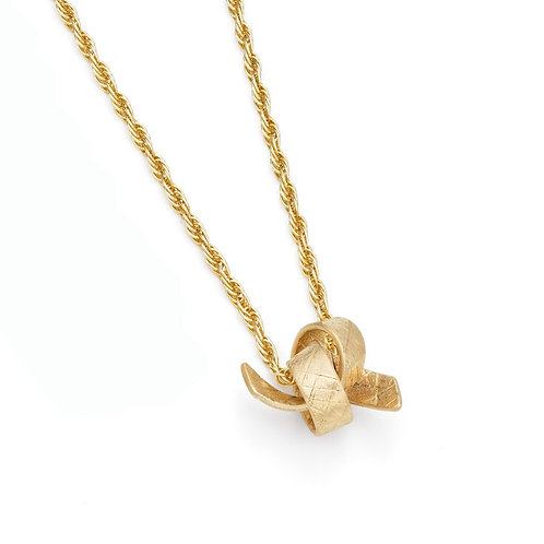 Jodie Hook- Luxe Knot Pendant- faceted
