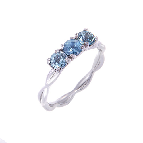 Katharine Daniel- Forget Me Not Sapphire and Platinum Ring