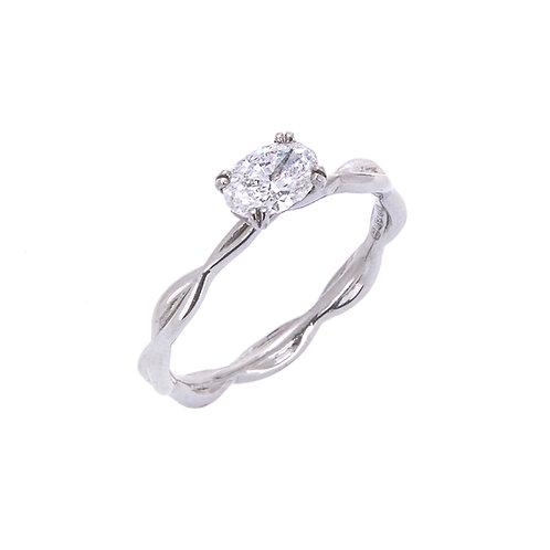 Katharine Daniel- Snow Drop Diamond Solitaire Ring