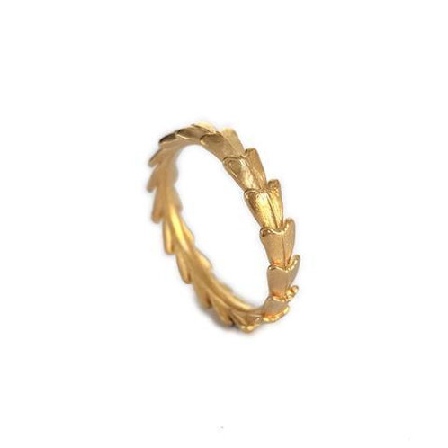 JO POND- Shepards's Purse Seed Tail Ring in 14ct