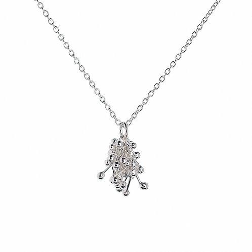 YEN- Small Silver Pendant Necklace