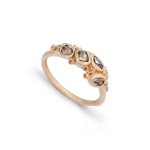 Ami Pepper- Ancient Barnacle & Diamond Chip Cluster Ring