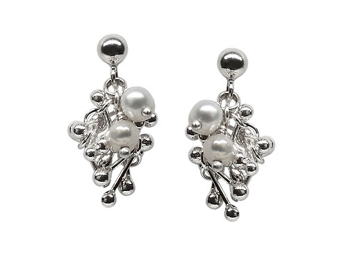YEN- Silver and Pearl Earrings
