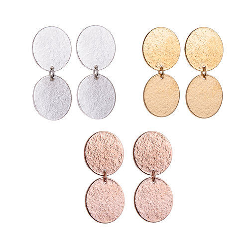 Lucy Thompson Small Double Oval Studs