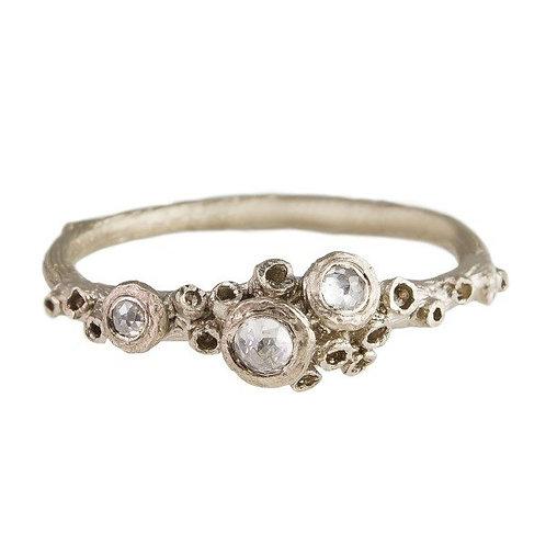 Ami Pepper- Ocean Barnacle & Rose Cut Diamond Cluster Ring