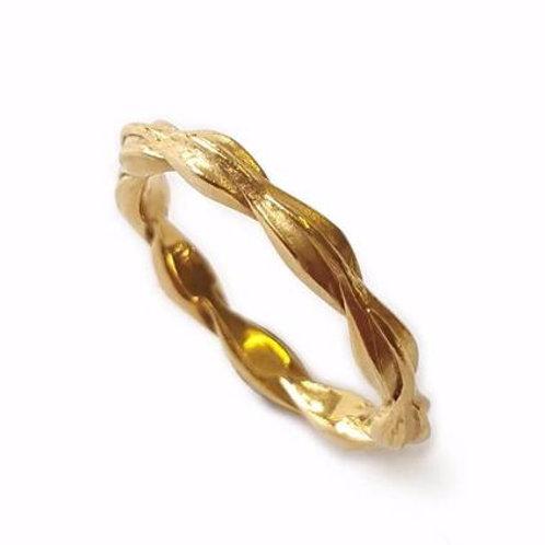 Jo Pond- Barley Seed ring 9ct yellow