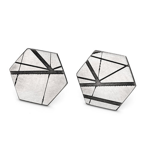 Jodie Hook- Hexagon Stud Earring
