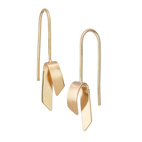 Jodie Hook- Luxe Fold Hook Earring