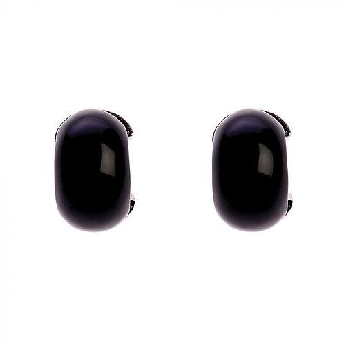 Simon Harrison Jewellery- Maia Stainless Steel Hoop Earring Black
