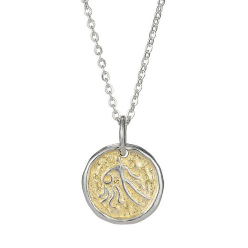 Simon Harrison Jewellery- Zodiac West Aquarius Pendant