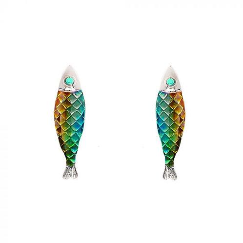 Simon Harrison Jewellery- Electra Stud Earrings Green