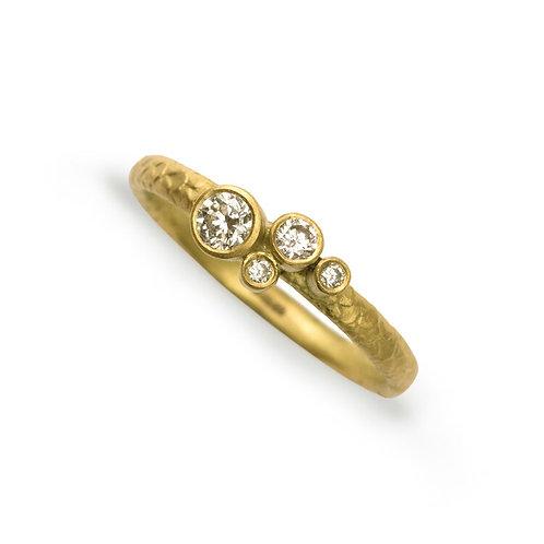 Alison Macleod- Catkin Brilliant Cut Diamond Ring 9ct Yellow Gold