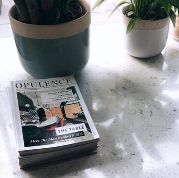 Opulence Magazine - Restaurant Illustration   Front Cover