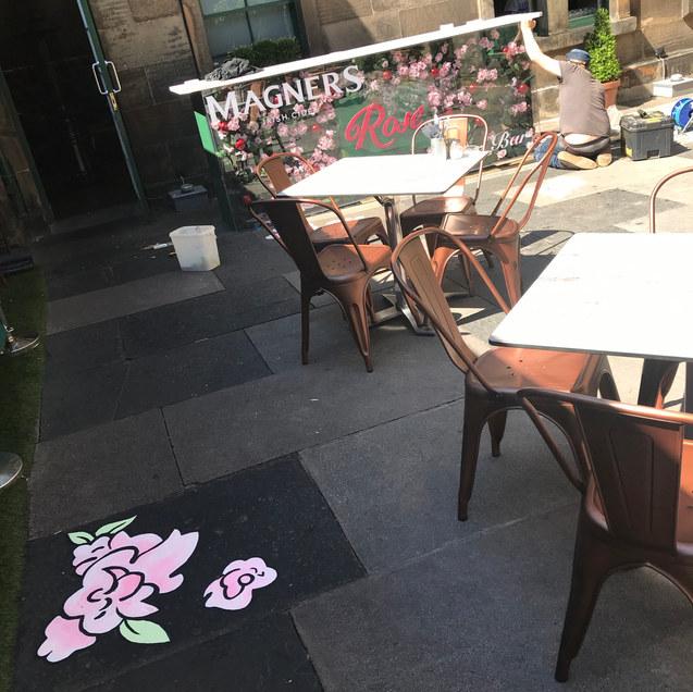 Magners Flowers - Floor Mural