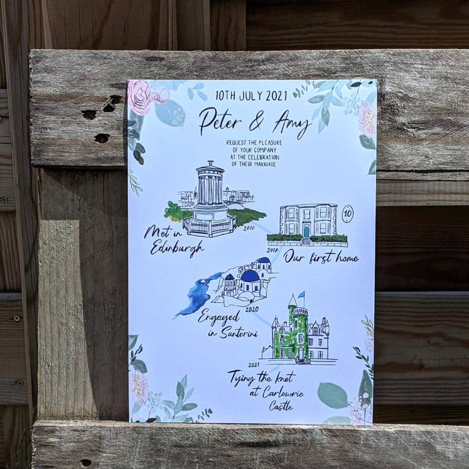 Wedding Invitation - Illustrated Story