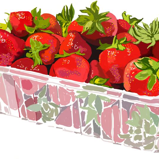 Digital - Punnet of Strawberries
