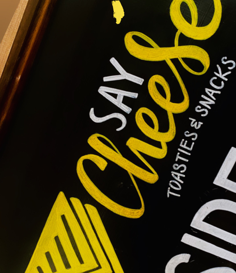 Say Cheese Blackboard