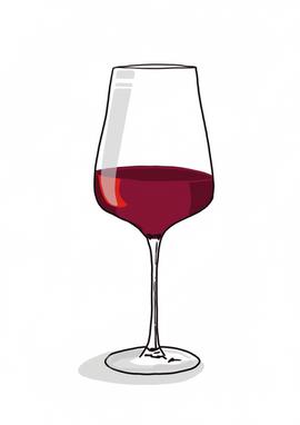 Digital - Red Wine Glass