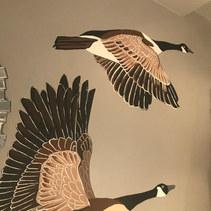 Flying Geese - Interior Mural