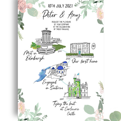 Wedding Invitation - Couples Story