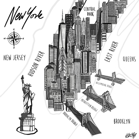 Illustrated Map of New York