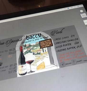 Sketch for illustrated blackboard