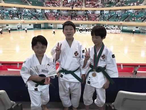 全日本少年少女武道少林寺拳法錬成大会に3名の拳士が出場しました。