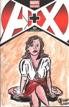 A + X # 1 Peggy Carter Sketch