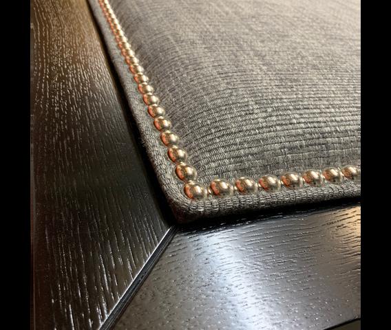 Grey Studded Plain Headboard Detail.png
