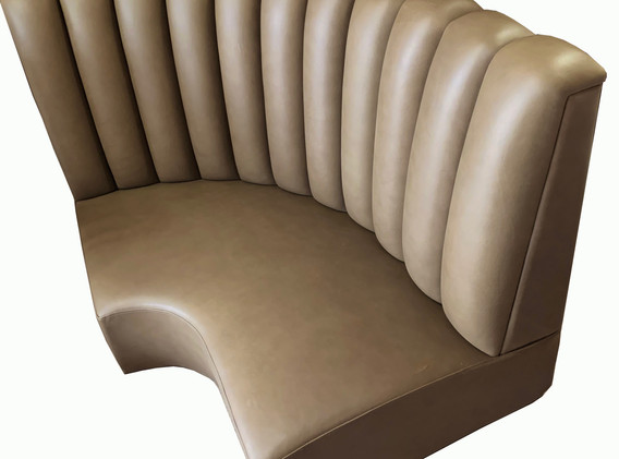 Fluted Banquette Section
