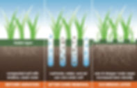 Diagram showing the benefits of lawn aeration