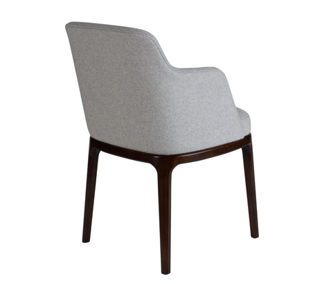 Edgeware Armchair Grey 45 Back
