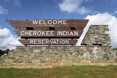 Welcome sign of Cherokee National Forest