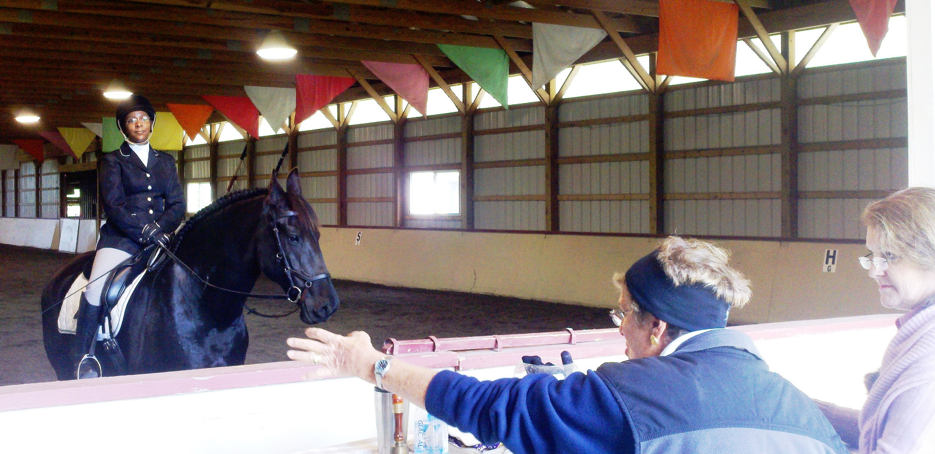 Schooling PVDA Show rider with judge.jpg