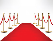 photo showing red carpet leading up to event