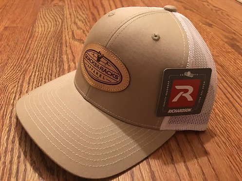 Richardson Snapback Caps with Quacks & Racks Apparel Leather Patch
