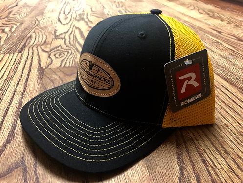 Richardson-112 Snapback Caps with Quacks & Racks Leather Patch