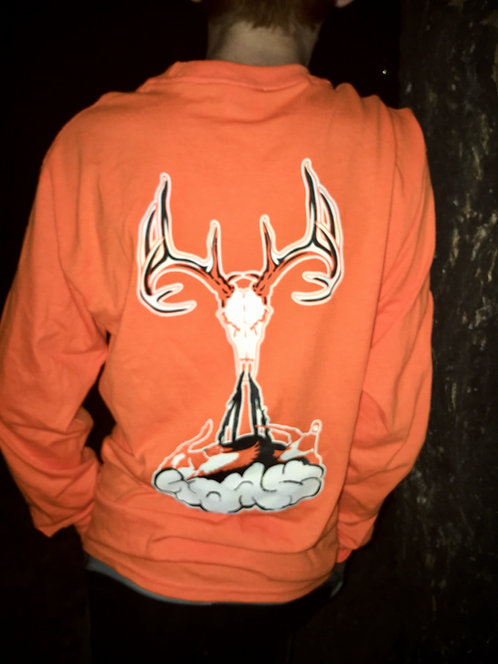 Safety Orange Long Sleeve with Deer Skull Logo