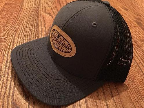 Richardson-112 Snapback Cap with Quacks & Racks Leather Patch