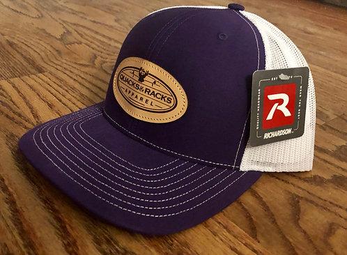 Richardson-112 Snapback Caps with Quacks & Racks Leather