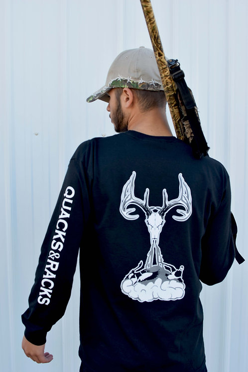 Black Long Sleeve with Skull Deer Logo