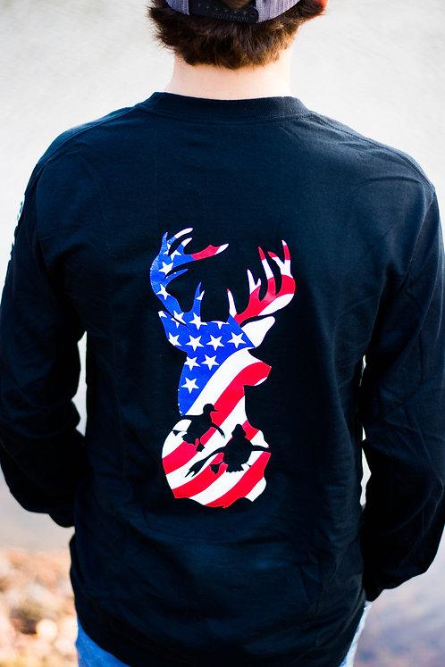 American Flag embedded in Q&R Logo