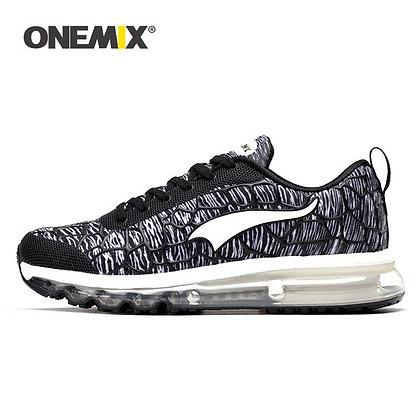 Champion Onemix en negro y blanco Aire Running UNISEX