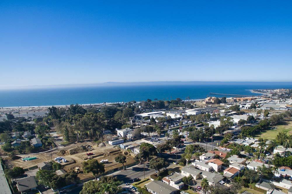 Brisa29 Ventura Townhouses Aerial View with the Ventura Pier