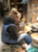 Marianne Vandenbussche at work