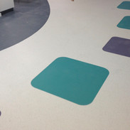 Sheet Vinyl cut into custom pattern at commercial premises