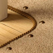 Carpet studs and rope binding