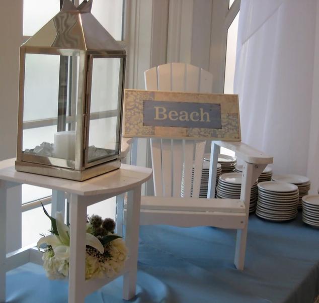 Beach decor buffet
