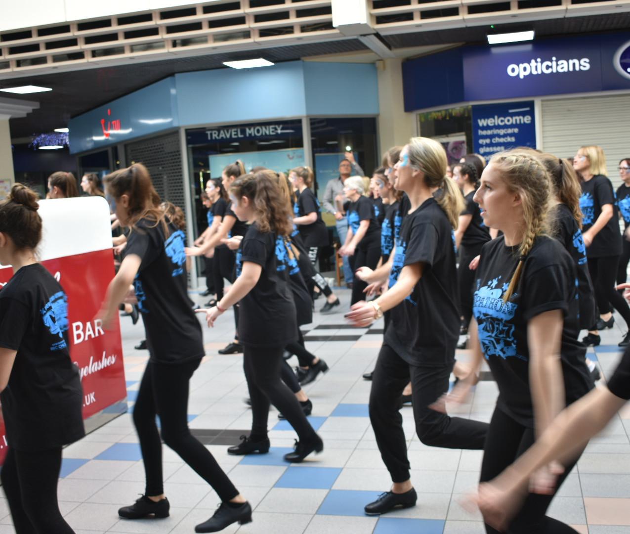 Tap Dancing at Havant Shopping Centr