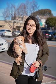 Janice 02 walking dog momo.jpg